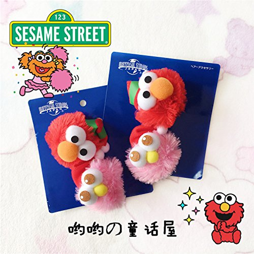 usongs Day One Universal City Sesame Street Elmo Christmas hat hair ball cute cartoon children's hair ring