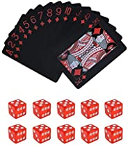 Poker Playing Cards Dice Sets Poker Table Cards PVC Waterproof Stacking Cup Dice Grade AAA Precision 19mm Seri