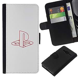 Stuss Case / Funda Carcasa PU de Cuero - Estación de juegos - Samsung Galaxy Core Prime