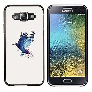Cuervo Cuervo Pintura- Metal de aluminio y de plástico duro Caja del teléfono - Negro - Samsung Galaxy E5 / SM-E500