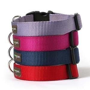 Nylon Dog Collar-M-RED