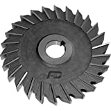 """F&D Tool Company 11555-AX438 Straight Tooth M-42 Cobalt Side Milling Cutter, Straight Tooth, 3"""" Cutter Diameter, 1/2"""" Width of Face, 1"""" Hole Size, 20 Number of Teeth"""