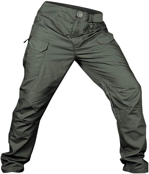 LUCKME Mens Cargo Combat Trousers Navy Waterproof Pants