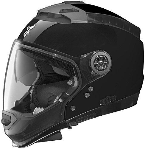 Nolan N44 N-Com Outlaw Helmet, Distinct Name: Black, Gender: Mens/Unisex, Helmet Category: Street, Helmet Type: Modular Helmets, Primary Color: Black, Size: 2XS N445270470189
