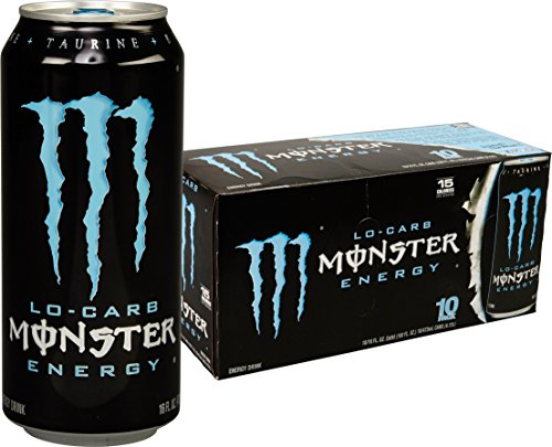 (Lo-Carb Monster Energy, Energy Drink, 16 Ounce (Pack of 20))