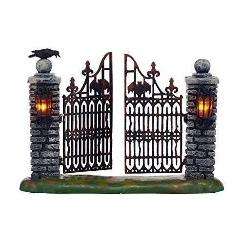 Department 56 Halloween Village Spooky Wrought Iron Gate Accessory Figurine, 4.53 inch -