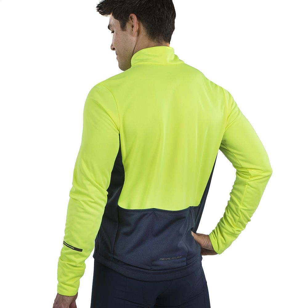 Screaming Yellow//Navy Medium PEARL IZUMI Mens Quest Thermal Cycling Jersey