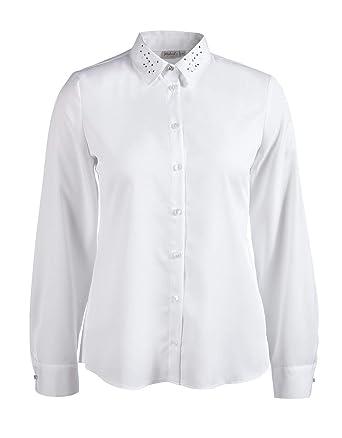 Malva by Adler Mode Damen Bluse mit PerlenStrass
