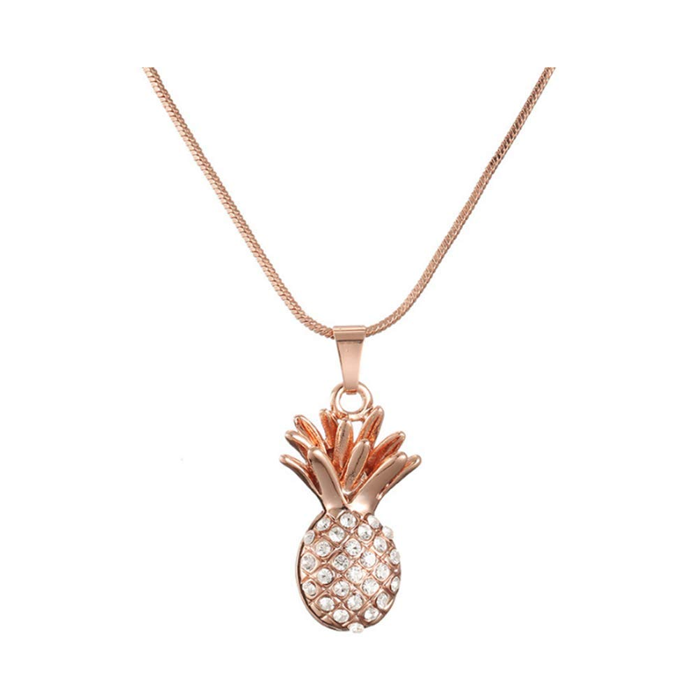 O-C Pineapple Pendants Necklace Chain Necklace Gift for Women Girls