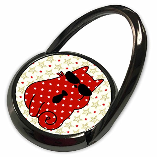t Cats - Red Star Patterned Cat in Sunglasses and a Necktie Holiday - Phone Ring (phr_269555_1) (Holiday Necktie)