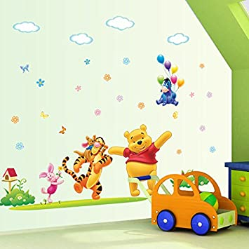 Clest F&H Winnie The Pooh 74CM*137CM baby bear Pegatina Adhesivo vinilo decorativo pared Removible
