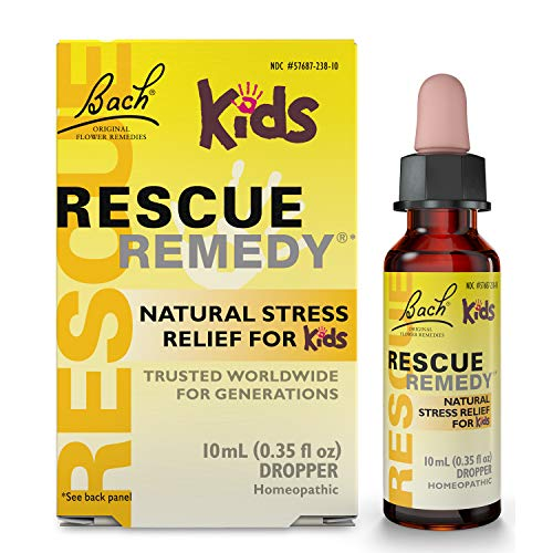Dropper Clematis (Bach Kids Rescue Remedy Natural Stress Relief Dropper, 10 ml)