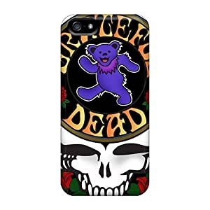 Iphone 5/5s QTd5544ppwP Provide Private Custom Fashion Grateful Dead Image Shock Absorbent Hard Phone Cover -EricHowe