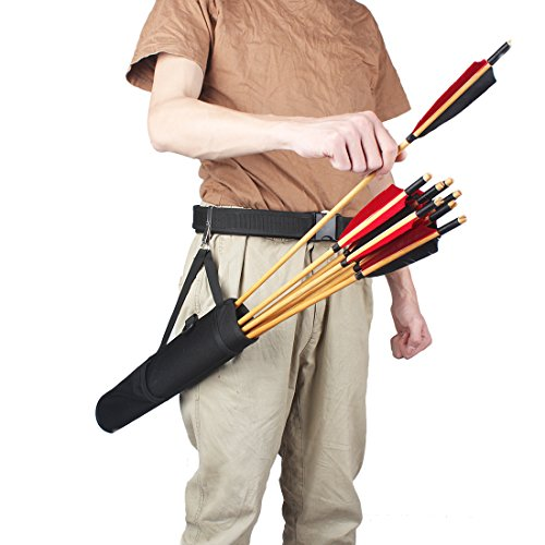 KRATARC Archery Arrows Tube Hip Quiver Waist Hanged Carry Bag (Black- Upgraded version) by KRATARC (Image #7)