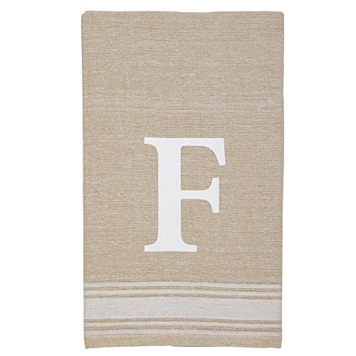 Mud Pie 4405177F Grainsack Chambray Initial Towel f