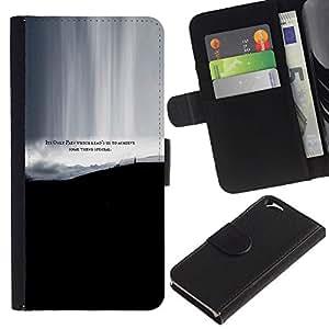 Leather Etui en cuir || Apple Iphone 6 || Dolor Lograr algo especial Cita Vida @XPTECH
