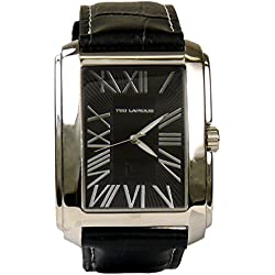 Ted Lapidus - Men's Robust Roman Numerals Large Tank Watch