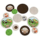 Woodland Creatures - Baby Shower or Birthday Party Table Confetti Set - 27 Count
