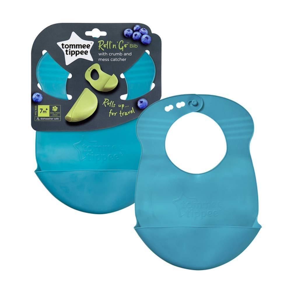 Tommee Tippee Explora Roll N Go Bib 1 Bib 7m+ Some New Colours Ocean Blue