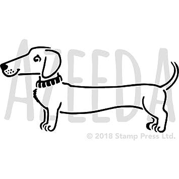 azeeda a5 sausage dog wall stencil template ws00014417 amazon