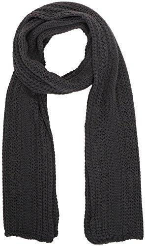 Solid Color Men's Soft Handmade Knit Winter Long Scarf Neck Warmer,Dark (Mens Wool Knit Scarf)