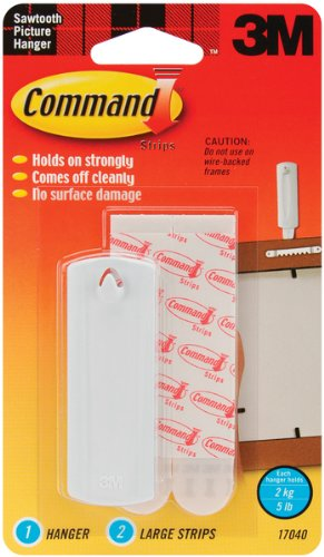 Command Strip Sawtooth Picture Hangers-1 Hanger & [Office Product]