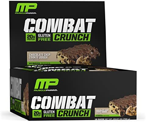 MusclePharm Combat Crunch Bars Chocolate Chip Cookie Dough 12 Stück