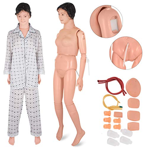 VEVOR Patient Care Manikin Premium PVC Material Education Patient Care Teach Model Women Manikin Nursing Medical School ()