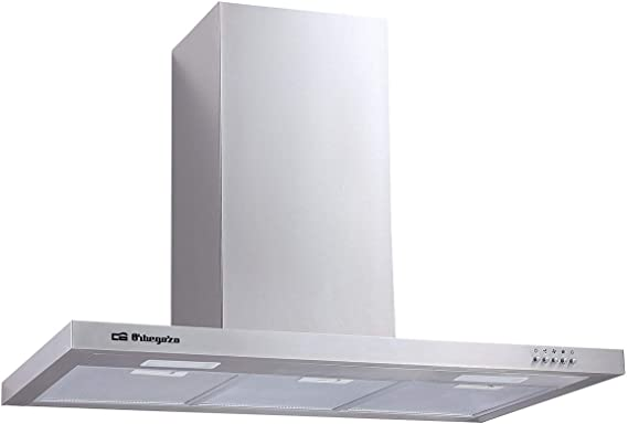 Orbegozo DS 57190 B IN - Campana extractora 90 cm, acero inoxidable, capacidad de extracción 642,4 m3/h, 3 filtros de aluminio desmontables, 3 niveles de potencia: Amazon.es: Hogar