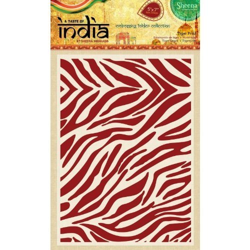 Sheena Douglass A Taste of India 5'' x 7'' Embossing Folder - Tiger Print by Sheena Douglass