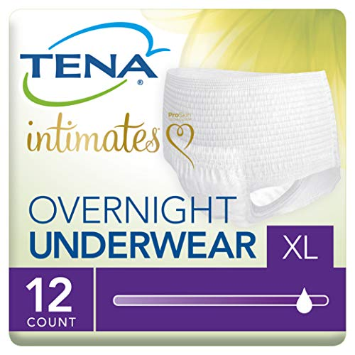(Tena Incontinence Underwear for Women, for Overnight, XLarge, 12 Count(pack of 4))