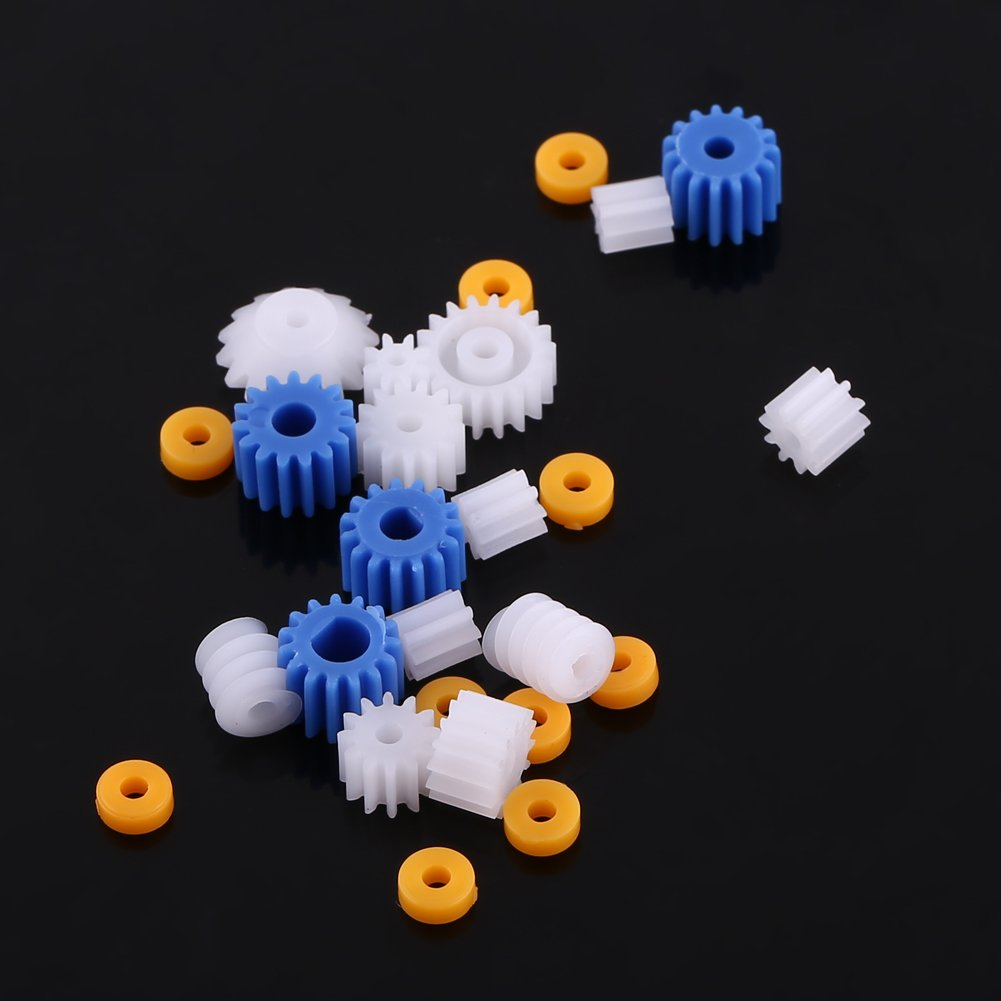 26 Pcs Plastic Spindle Worm Gear /& Sleeve 2MM//2.3MM//3MM//3.17MM//4MM for Aircraft Car Model