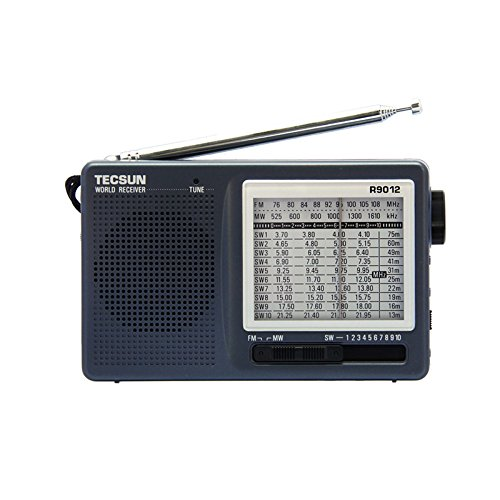 Tecsun R-9012 AM/FM/SW 12 Bands Shortwave Radio Receiver Gra
