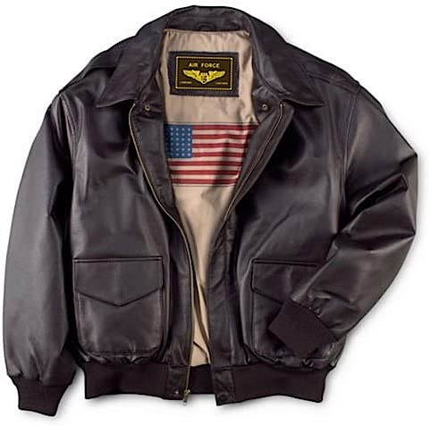 60s , 70s Hippie Clothes for Men Landing Leathers Mens Air Force A-2 Leather Flight Bomber Jacket (Regular and Big & Tall) $149.99 AT vintagedancer.com