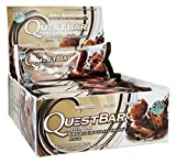 quest protein chocolate chunk - Quest Nutrition Protein Bar Double Chocolate Chunk , ValueSize Pack of 2 (24 Count Total) Quest-zw