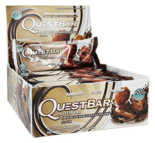 Quest Nutrition Protein Bar Double Chocolate Chunk , ValueSize Pack of 4 (48 Count Total) Quest-fn by Quest Nutrition