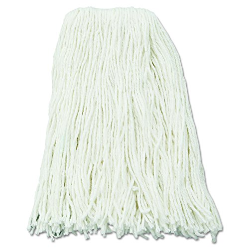 UNISAN Premium Cut-End Wet Mop Heads, Rayon, 16-Ounces, White, 12/Carton -