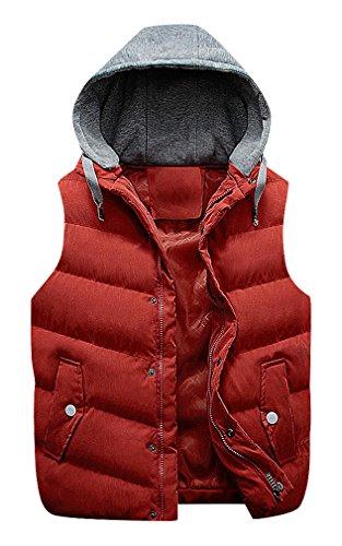 CELINO Men's Padded 1 Color Cotton Hood Concealed Zipper ...