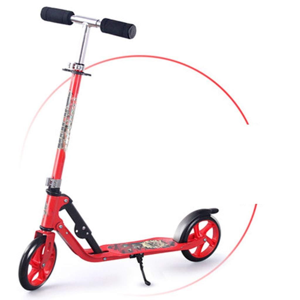 hasta un 50% de descuento Negro SBKD Scooter Scooter Scooter para Niños De 6 A 12 Años De Edad, Hombres Y Mujeres, Niños con Una Sola Pierna, Scooter De Dos Ruedas Plegable para Adultos. (Color   Rojo)  salida para la venta