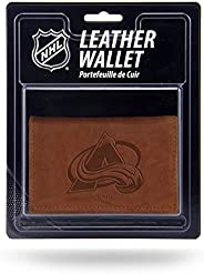 NHL Mens NHL Embossed Leather Trifold Wallet