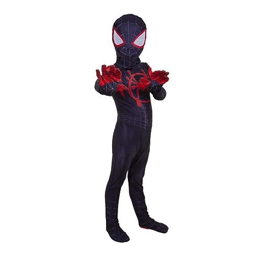 ZUOZHE Negro Spiderman Nios Adulto Cosplay Spider-Man Traje De ...