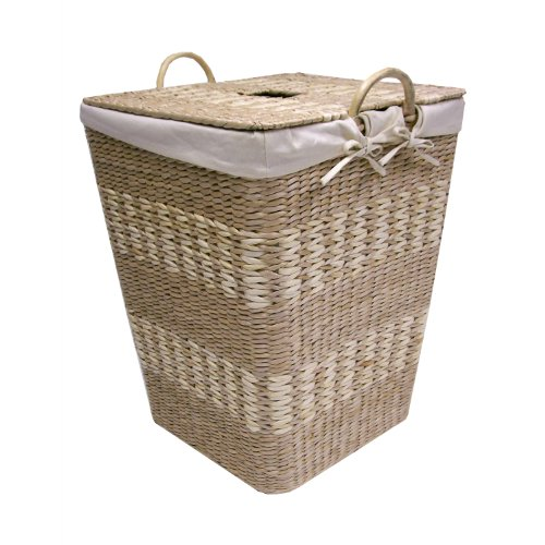 Maize Storage Basket Natural (Creative Bath Arcadia Hamper with Liner, Natural/Bleach)