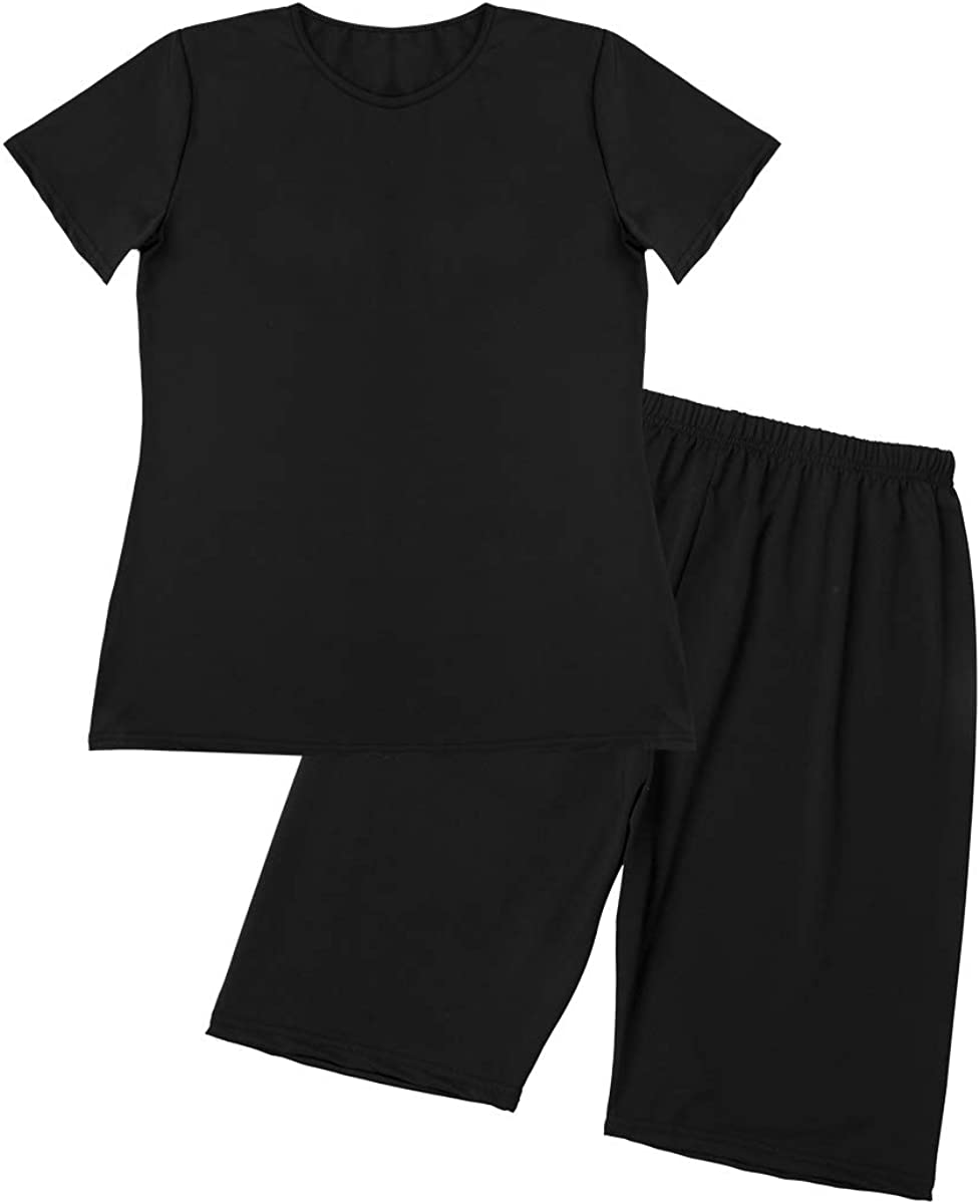 Mioliknya Women Tracksuit Two-Pieces Sports Suit Crop Top Pants Outfit Yoga Workout High Waist Tight 2Pcs Outfit Set