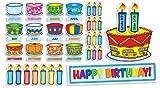 preschool birthday chart - Scholastic Birthday Cakes Mini Bulletin Board (TF8072)