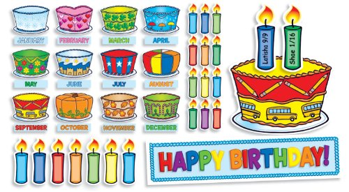 Scholastic Birthday Cakes Mini Bulletin Board (TF8072)