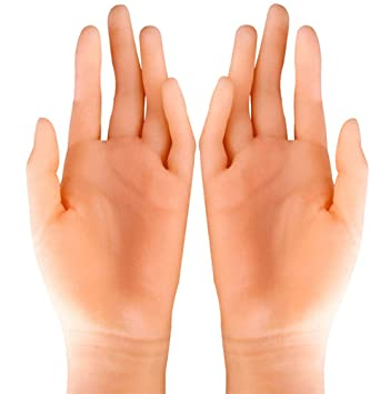 BIXINYAAN Simulación Femenina Modelo de Mano de Silicona Dedo ...