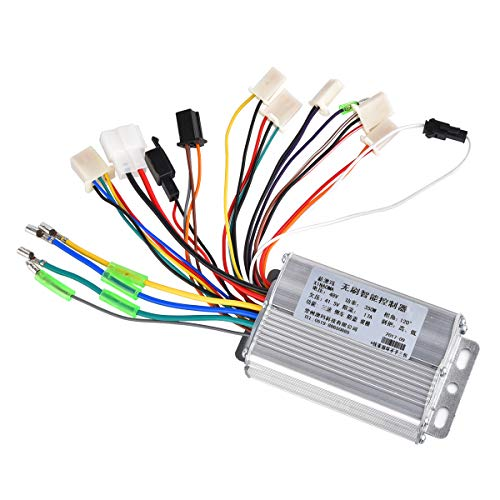 (RUHUO DC 48V 350W Brushless Motor Controller 6 Mosfet w/Reverse for Electric ATV 4 Wheeler Tricycle Wheelchair)