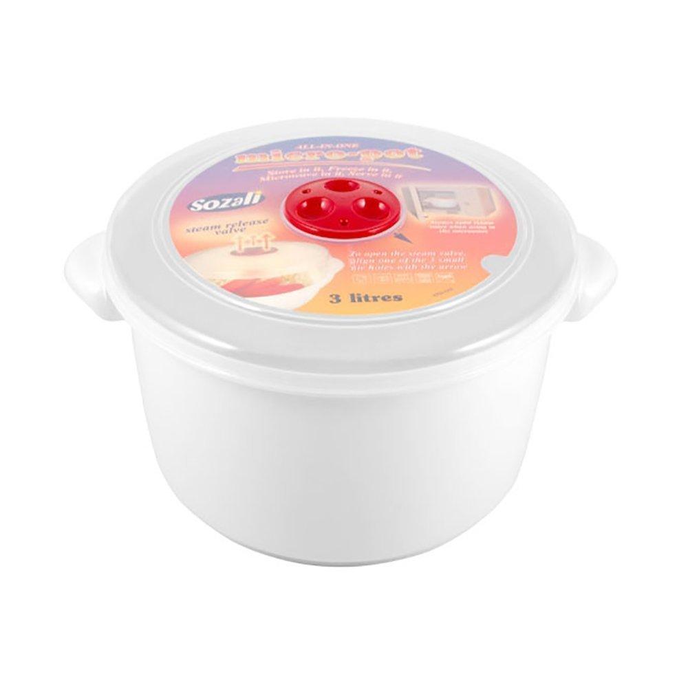 Alta calidad 3 litros cubo de recipientes para microondas con ...