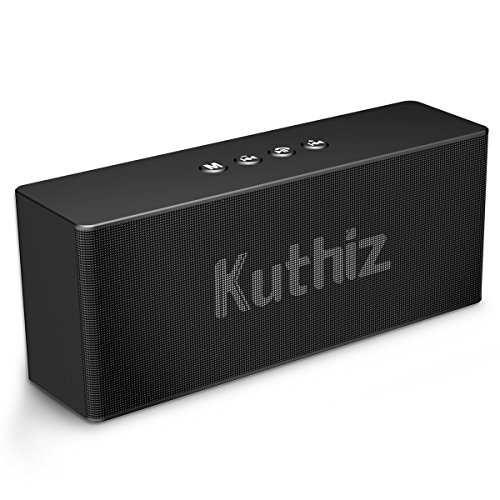 Portable Bluetooth Speakers, Kuthiz Wireless Speaker with Bluetooth V4.2, Built-in Dual Driver Speakerphone, Outdoor Bluetooth Speakers for iPhone, iPad, Samsung etc, Handsfree Call, AUX (Black)