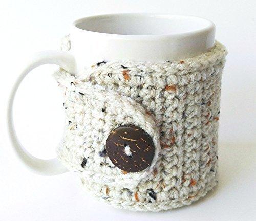 Handmade Coffee Mug Cozy Oatmeal